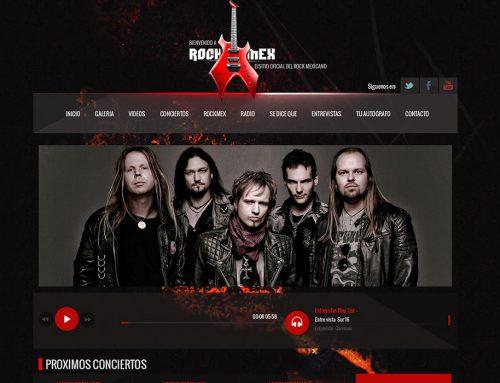 Rockmex | Re-diseño de página Web